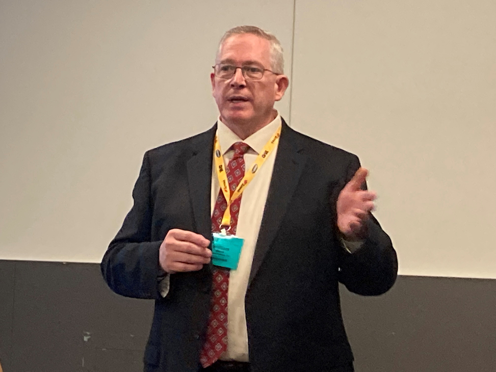 William Elkins, CTO for Hudson Analytix, talks cyber-risk management during TMC's fall 2021 meeting.